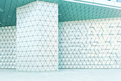 Abstract 3d illustration architectural pattern. Abstract architectural 3d illustration of blue triangles Royalty Free Stock Photography