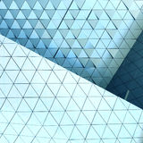 Abstract 3d illustration architectural pattern. Abstract architectural 3d illustration of blue triangles Stock Images