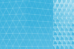 Abstract 3d illustration architectural pattern. Abstract architectural 3d illustration of blue triangles Royalty Free Stock Photo