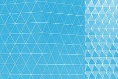 Abstract 3d illustration architectural pattern. Abstract architectural 3d illustration of blue triangles Stock Illustration