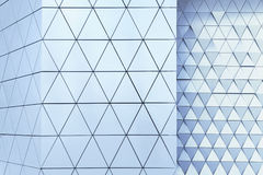 Abstract 3d illustration architectural pattern. Abstract architectural 3d illustration of blue triangles Stock Photos