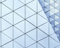 Abstract 3d illustration architectural pattern. Abstract architectural 3d illustration of blue triangles Stock Photography