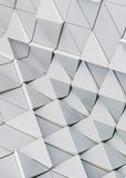 Abstract 3d illustration architectural pattern. Abstract 3d illustration of modern aluminum ventilated facade of triangles Stock Photos