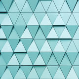 Abstract 3d illustration architectural pattern. Abstract 3d illustration of modern aluminum ventilated facade of triangles Stock Image