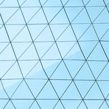 Abstract 3d illustration architectural pattern. Abstract 3d illustration of modern aluminum ventilated facade of triangles Royalty Free Stock Photography