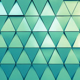 Abstract 3d illustration architectural pattern. Abstract 3d illustration of modern aluminum ventilated facade of triangles Stock Photo