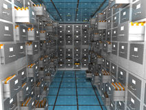 Data archive room. Abstract 3d illustration of archiver room Stock Image