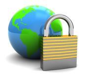 Locked earth Royalty Free Stock Photos