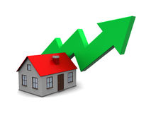 House price rising Royalty Free Stock Photo