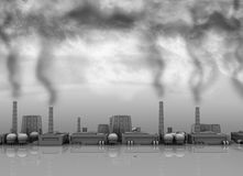 Toxic industry Royalty Free Stock Images