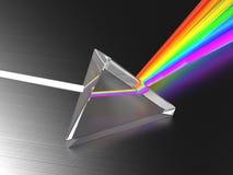 Light dividing prism. Abstract 3d illustration of light dividing prism Stock Photos