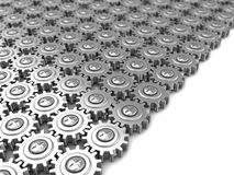 Crowd. Abstract 3d illustration of many gear wheels, crowd concept Stock Image