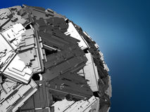 Abstract metal sphere system Royalty Free Stock Photos
