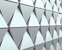 Abstract architectural pattern. Abstract 3D illustration. modern aluminum facade of triangles Vector Illustration