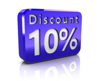 Ten percent discount Royalty Free Stock Photography