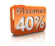 Forty percent discount Royalty Free Stock Photo