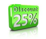 Twenty-five percent discount Stock Photography