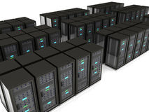 Abstract 3d illustration of server room Royalty Free Stock Photos
