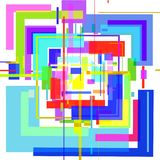 The abstract 3D image of colored squares on a white background. vector illustration