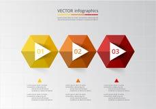 Abstract 3D Infographic-malplaatje Royalty-vrije Stock Afbeelding