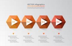 Abstract 3D Infographic-malplaatje Stock Afbeeldingen