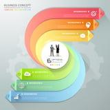 Abstract 3d infographic malplaatje, aantalopties 6 stappen, Stock Fotografie