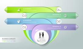 Abstract 3d infographic malplaatje, aantalopties 4 stappen, Stock Afbeelding