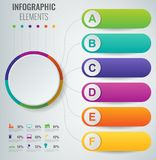 Abstract 3D infographic malplaatje met 6 opties Bedrijfspresentatieconcept Vector stock illustratie