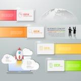 Abstract 3d infographic malplaatje 4 stappen, Royalty-vrije Stock Foto's