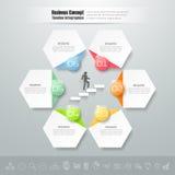 Abstract 3d infographic malplaatje 6 stappen, Stock Foto's