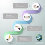 Abstract 3d infographic malplaatje 4 stappen, Stock Afbeeldingen