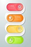 Abstract 3d infographic malplaatje 4 stappen Stock Foto's