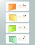 Abstract 3d infographic malplaatje 4 stappen, Royalty-vrije Stock Foto