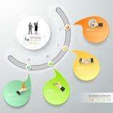 Abstract 3d infographic malplaatje 4 stappen, Royalty-vrije Stock Afbeeldingen