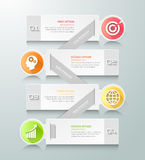 Abstract 3d infographic malplaatje 4 stappen, vector illustratie