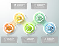 Abstract 3d infographic malplaatje 5 stappen, Royalty-vrije Stock Afbeelding
