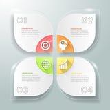 Abstract 3d infographic malplaatje 4 stappen, voor bedrijfsconcept Stock Foto