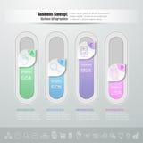 Abstract 3d infographic malplaatje 4 stappen, voor bedrijfsconcept Royalty-vrije Stock Afbeeldingen