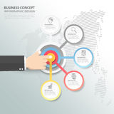 Abstract 3d infographic 5 options,  Business concept infographic. Template can be used for workflow layout, diagram, number options Royalty Free Stock Photo