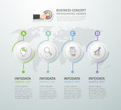 Abstract 3d infographic 4 options,  Business concept infographic. Template can be used for workflow layout, diagram, number options, timeline or milestones Royalty Free Stock Photography