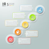 Abstract 3d infographic 5 options,  Business concept infographic Royalty Free Stock Image