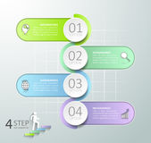 Abstract 3d infographic 4 options, Business concept infographic. Template can be used for workflow layout, diagram, number options, timeline or milestones Stock Illustration