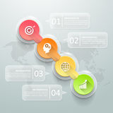 Abstract 3d infographic 4 options,  Business concept infographic. Template can be used for workflow layout, diagram, number options, timeline or milestones Stock Photography