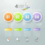 Abstract 3d infographic 4 options,  Business concept infographic Royalty Free Stock Image