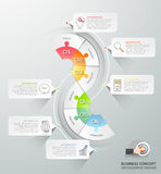 Abstract 3d infographic 6 options,  Business concept infographic. Template can be used for workflow layout, diagram, number options, timeline or milestones Royalty Free Stock Photo