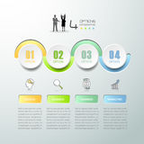 Abstract 3d infographic 4 options,  Business concept infographic. Template can be used for workflow layout, diagram, number options Royalty Free Illustration