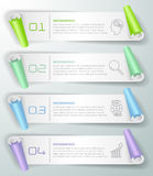 Abstract 3d infographic 4 options,  Business concept infographic Stock Photography