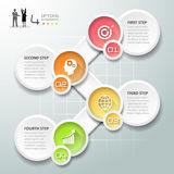 Abstract 3d infographic 4 options,  Business concept infographic. Template can be used for workflow layout, diagram, number options Stock Photography