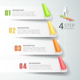 Abstract 3d infographic 4 options,  Business concept infographic. Template can be used for workflow layout, diagram, number options, timeline or milestones Stock Photos