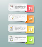 Abstract 3d infographic 4 options,  Business concept infographic. Template can be used for workflow layout, diagram, number options Royalty Free Stock Image